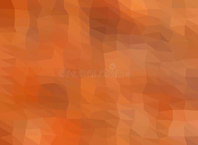 Colorful background consisting of light and dark brown triangles. Mosaic backdrop of geometric elements. Abstract stacked pattern royalty free illustration