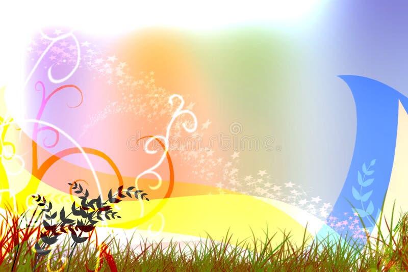 Colorful background cover swirl design image stock illustration