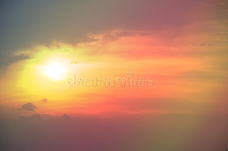Subtle background Of the beautiful pastel sky royalty free stock photography