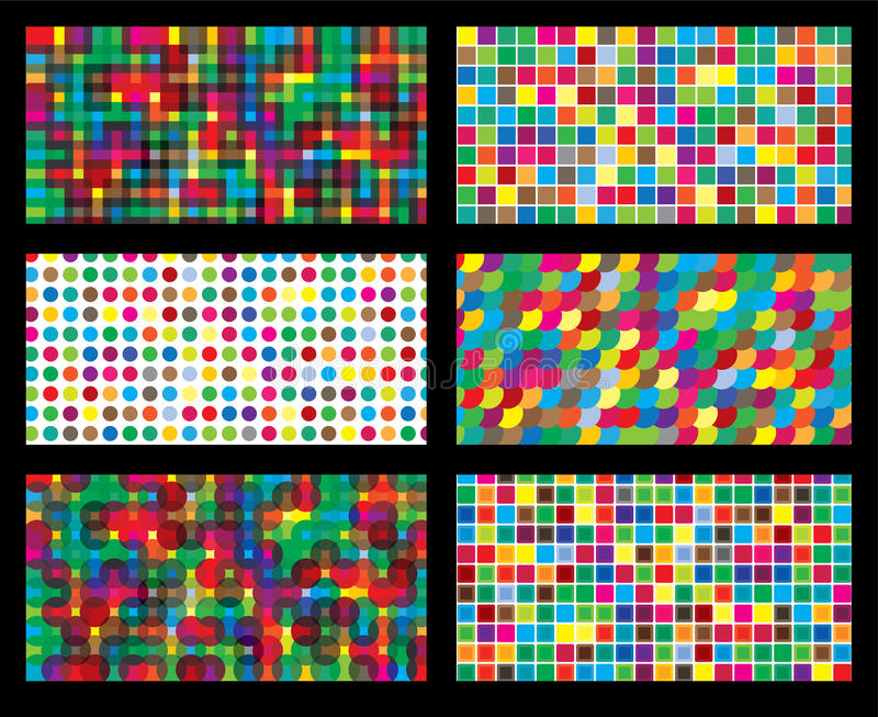 Colorful background geometric seamless repetitive vector graphic royalty free illustration