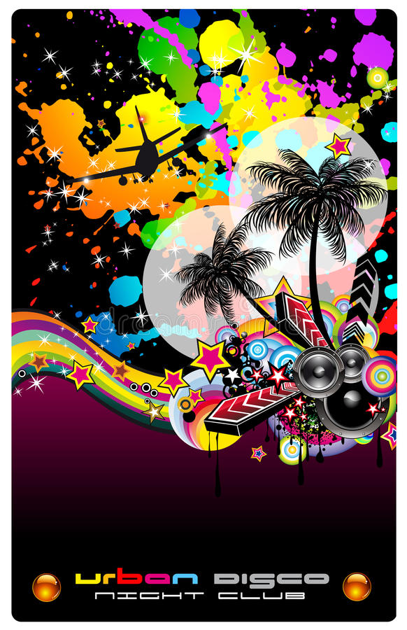 Download Colorful Background For Musical Flyer Royalty Free Stock Photography - Image: 15013297