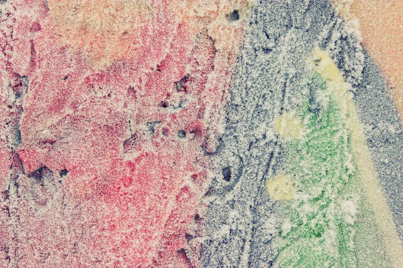 Colorful background with natural crystal texture. Frozen wall stock images