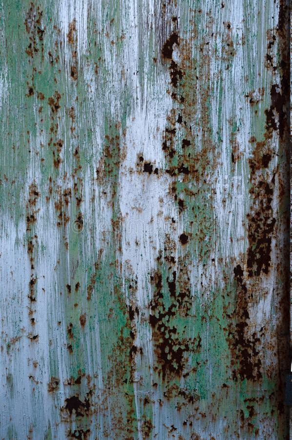 Colorful background on old rusty metal metal texture. stock photos