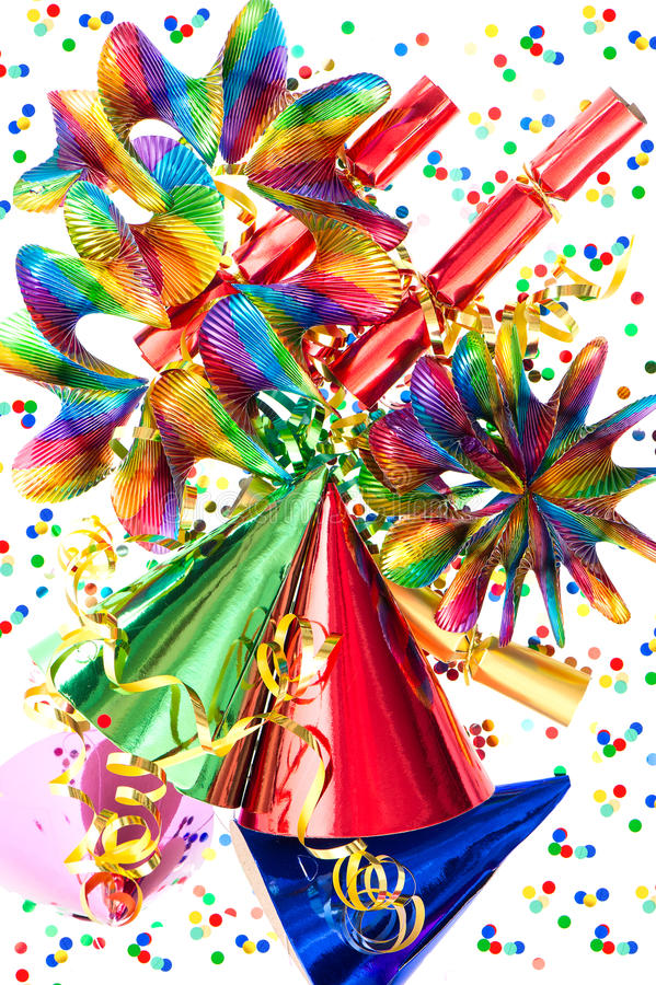 Download Colorful Background With Party Items Stock Photo - Image: 28620376