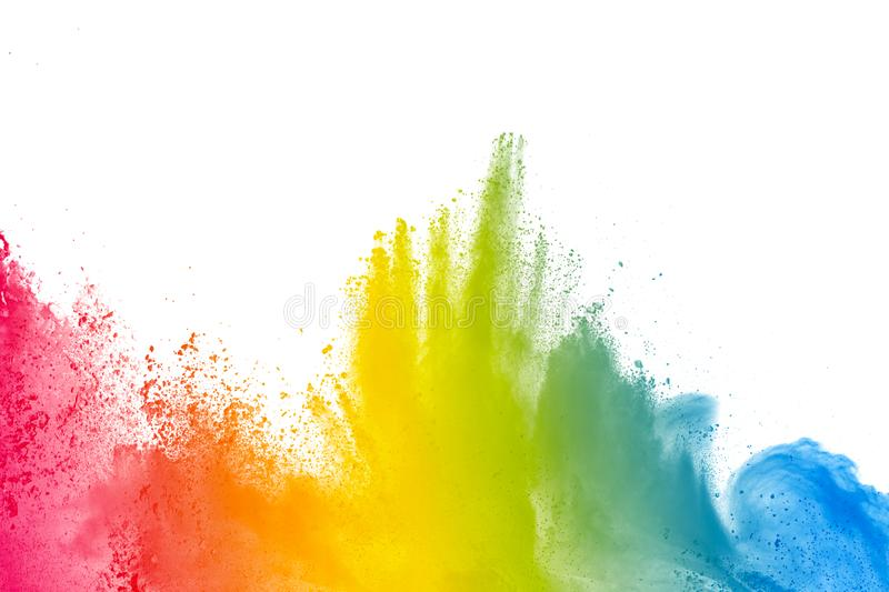 Colorful background of pastel powder. Abstract Colorful background of pastel powder.Color dust splash on white background royalty free stock photography