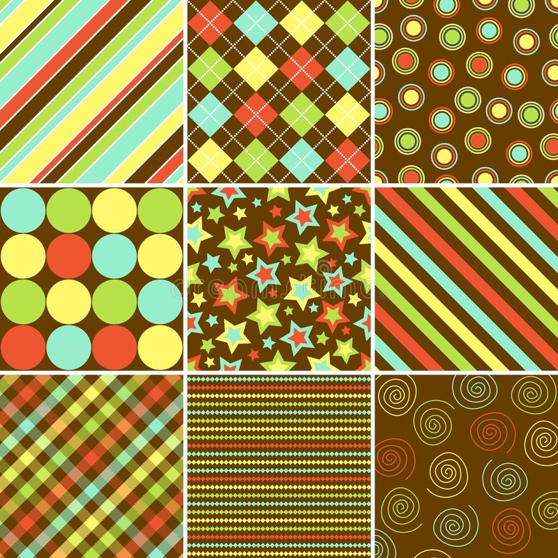 Colorful Background Patterns royalty free stock photography