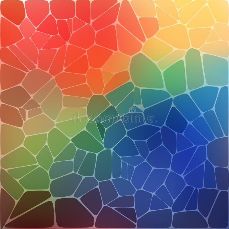 Colorful background with rainbow geometric mosaic royalty free illustration