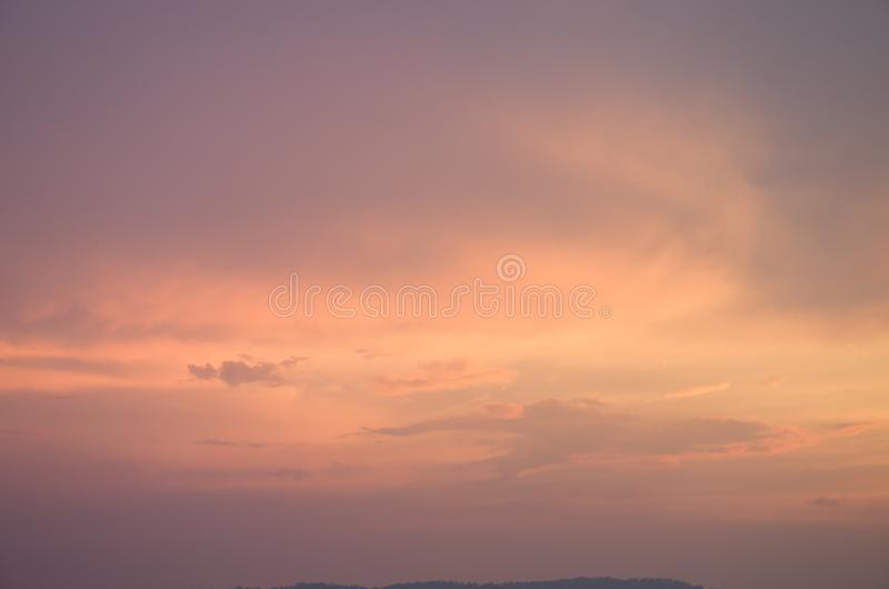 Subtle background Of the beautiful pastel sky royalty free stock photos