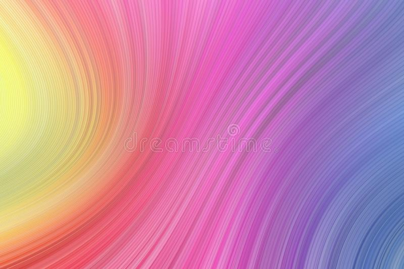Colorful background smooth wavy lines. Multicolour curved and straight shapes royalty free illustration