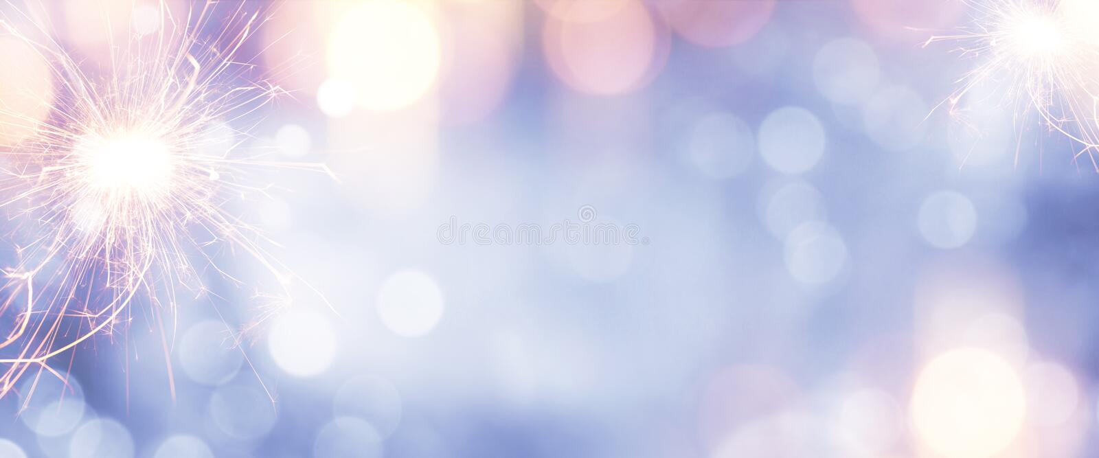 Colorful background with sparkler stock photo