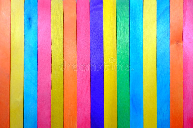 A colorful background or texture made from many wood stock image