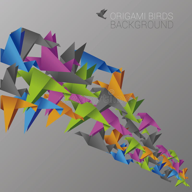 Free Colorful Background With Abstract Birds Stock Photography - 44595452