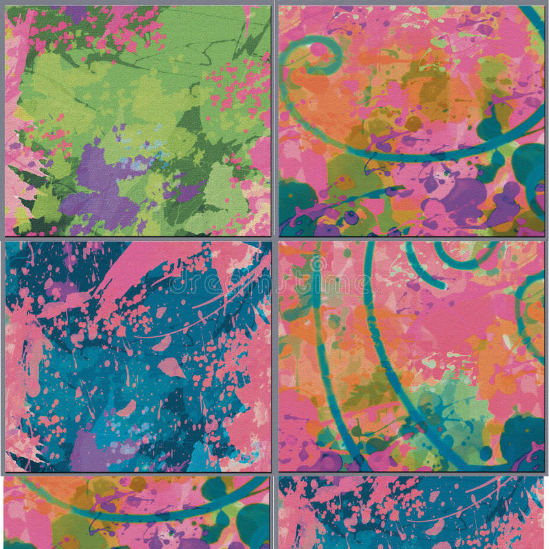 Colorful backgrounds, artistic backdrops created digitally,. Bottonoi for banners or sites royalty free illustration
