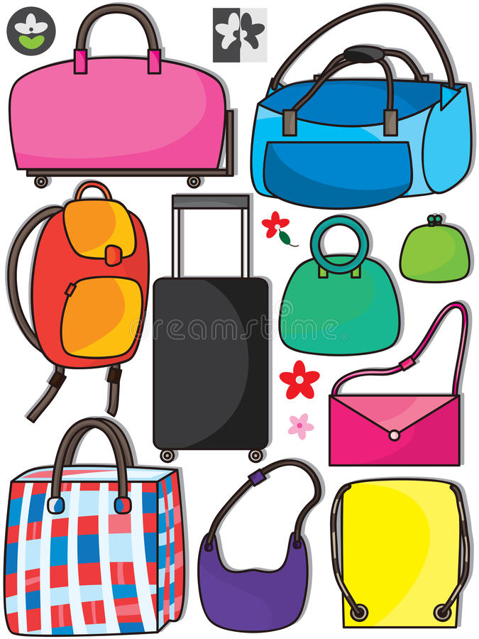 Colorful Bags Set_eps