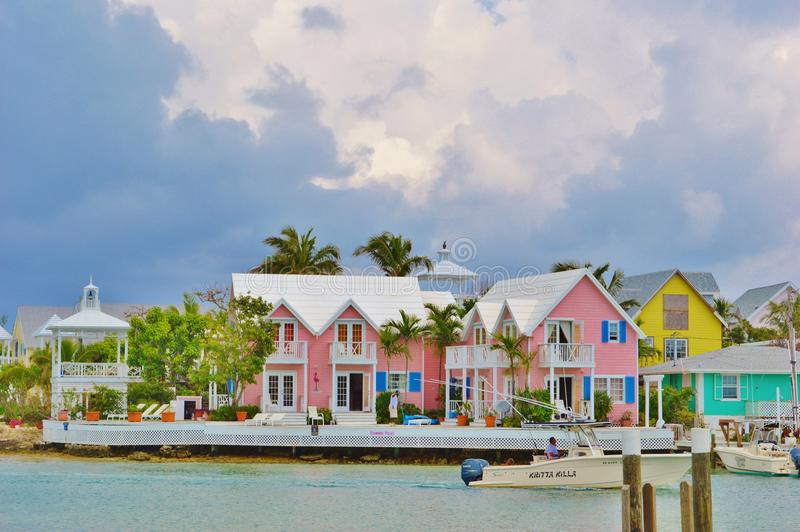 Colorful Bahamas stock images