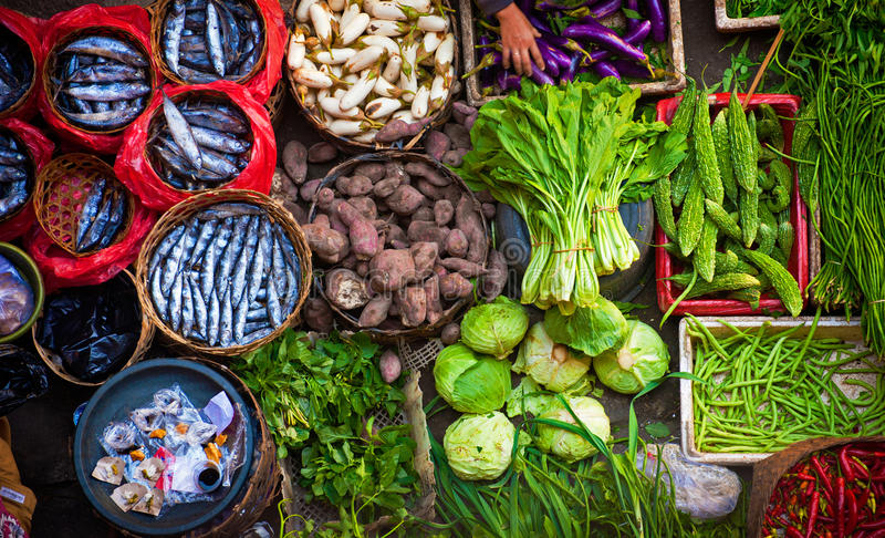 Colorful Bali Market stock photos