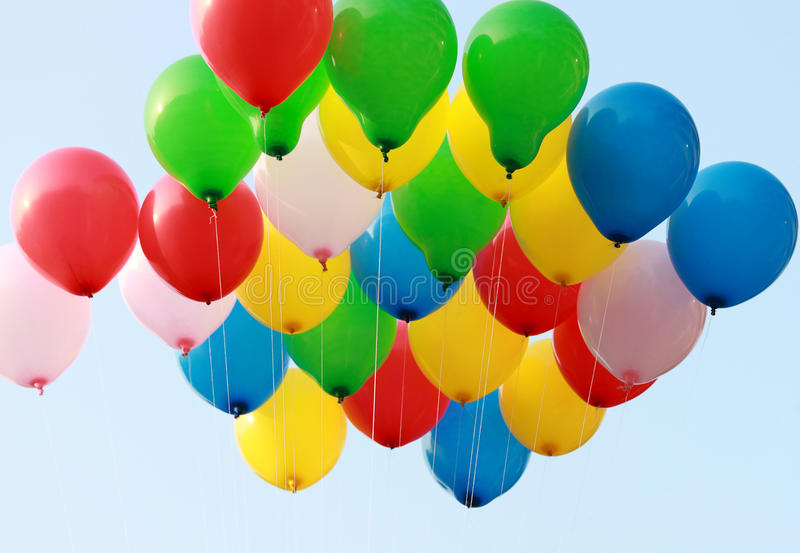 Colorful ballons royalty free stock photography