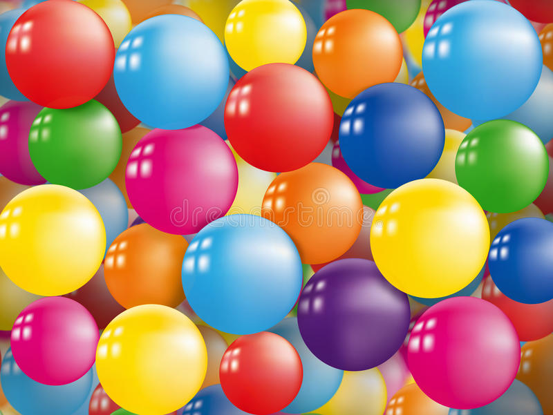 Download Colorful Balloon Background Stock Illustration - Image: 28025134