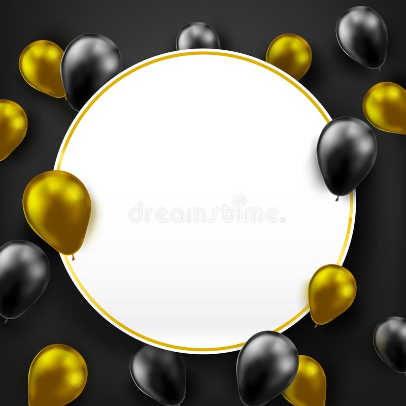 Colorful balloon with blank paper 003 stock illustration