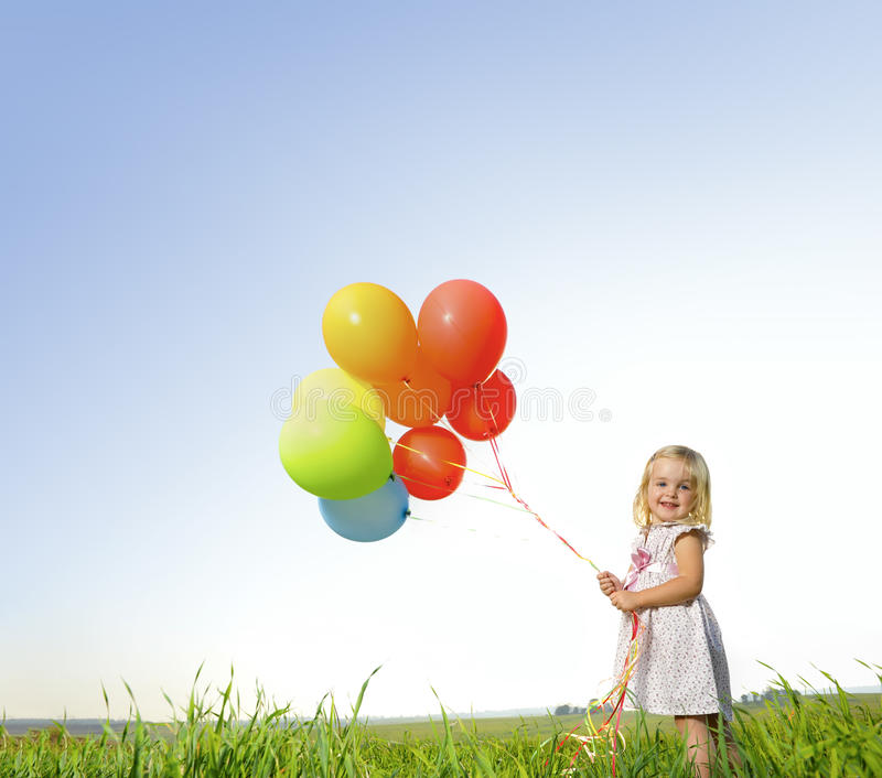 Download Colorful Balloon Girl Royalty Free Stock Photography - Image: 15141847