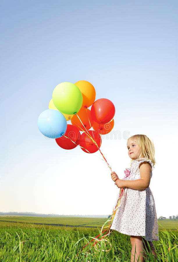 Free Colorful Balloon Girl Stock Photos - 15141853