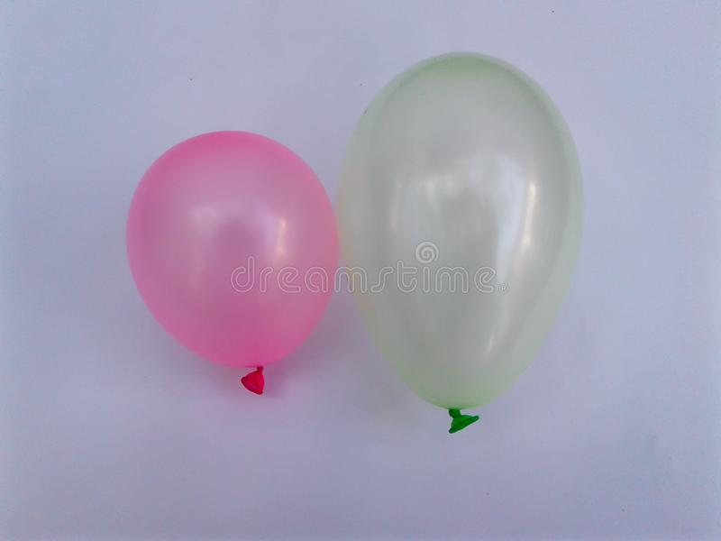 Colorful balloon green yellow red royalty free stock image