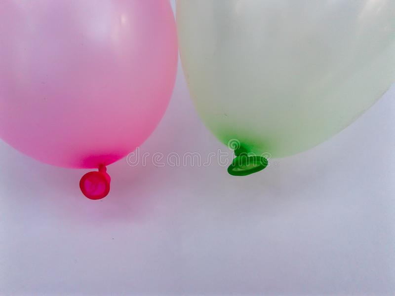 Colorful balloon green yellow red stock image