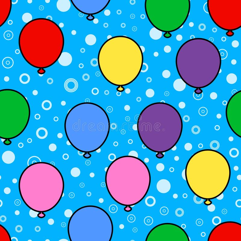 Colorful balloon seamless pattern on white background. Paper print design. Abstract retro vector illustration. Trendy textile,. Fabric, wrapping. Modern space vector illustration