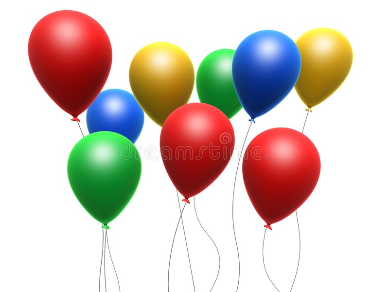 Colorful balloons vector illustration