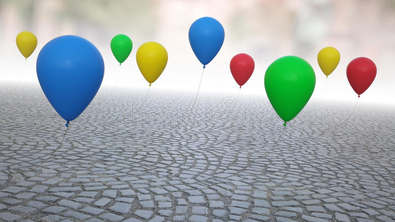 Download Colorful balloons stock image. Image of color, helium - 24076633