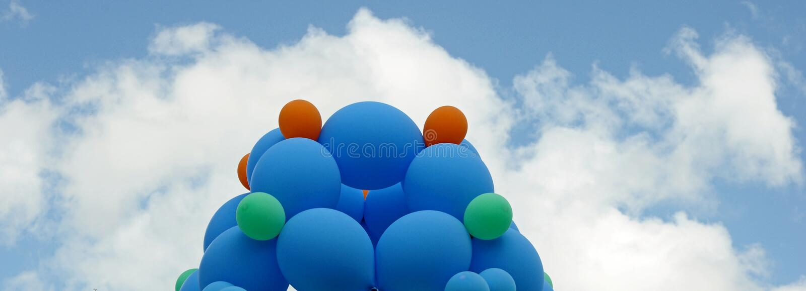 Download Colorful balloons stock image. Image of baloon, bunch - 25681611
