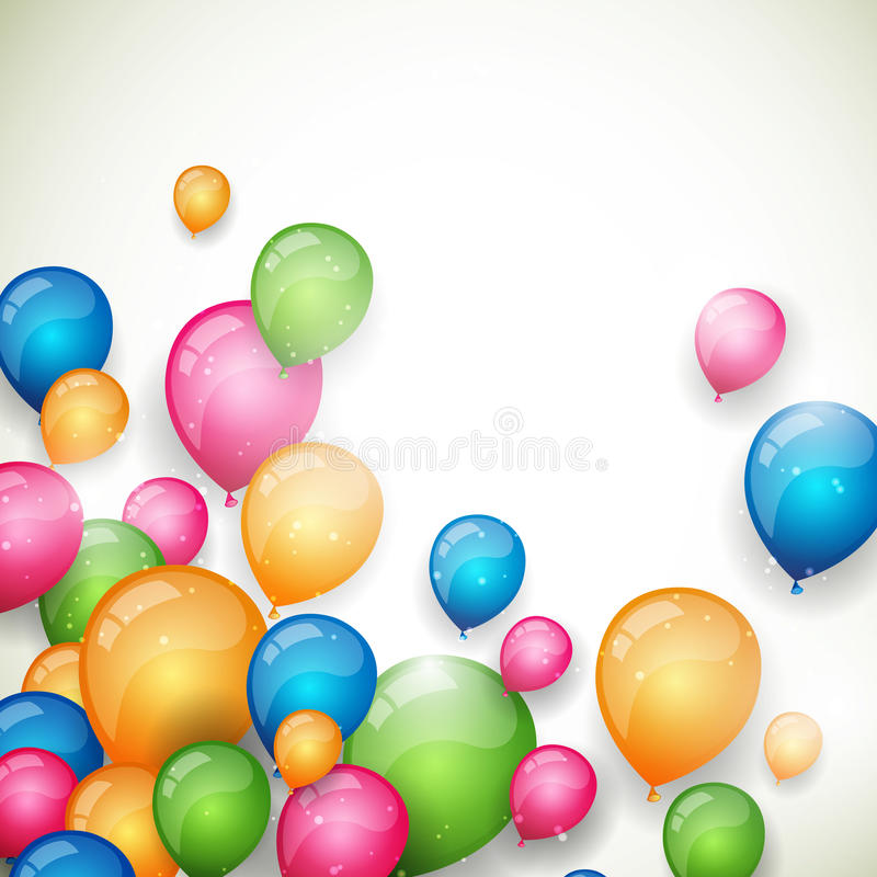 Colorful Balloons. Illustration of an Abstract Background with Colorful Balloons vector illustration