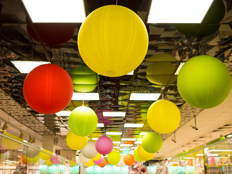 Colorful balloons. Background low depth of focus stock photo