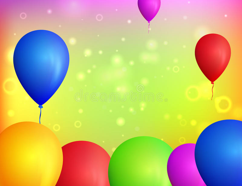 Colorful balloons background. Vector balloons. Multicolor bright background. Many flying balloons. stock illustration