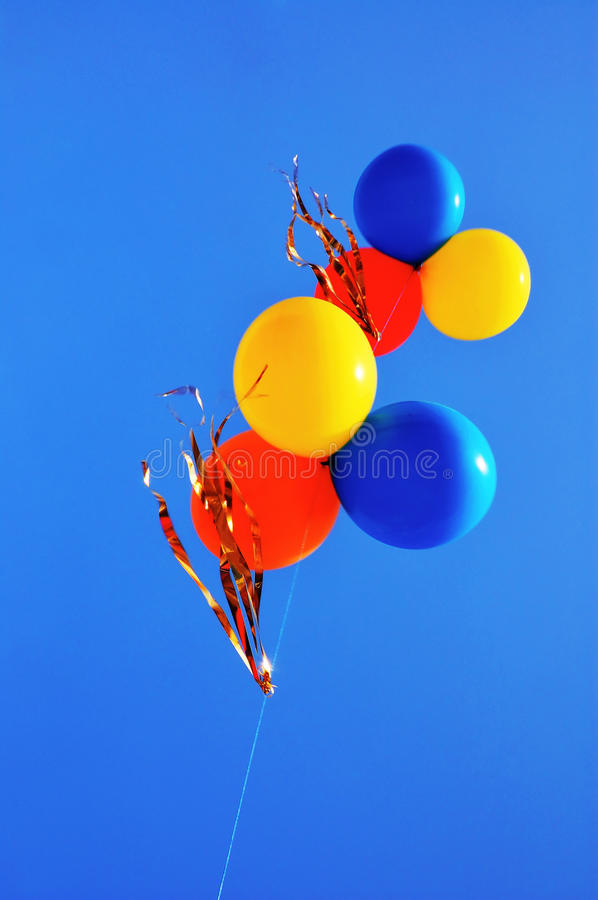 Colorful Balloons In The Blue Sky Royalty Free Stock Image