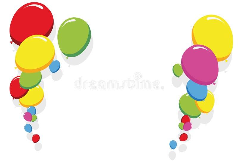 Colorful balloons border vector stock photo
