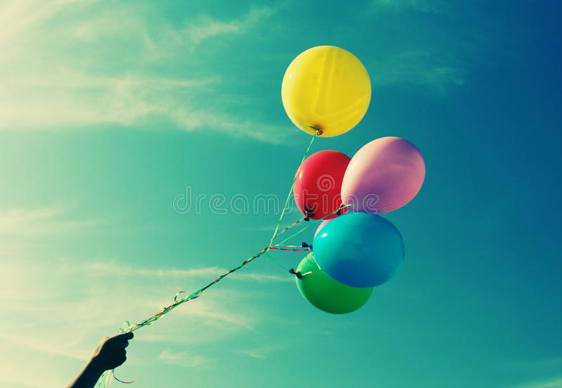 Colorful balloons. Close up of colorful balloons royalty free stock photos