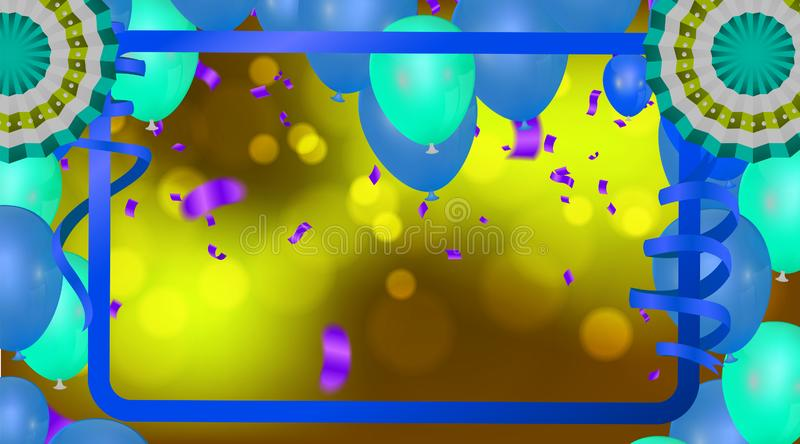 Colorful balloons colored balls on a  background with an inscription for designers and illustrators royalty free illustration