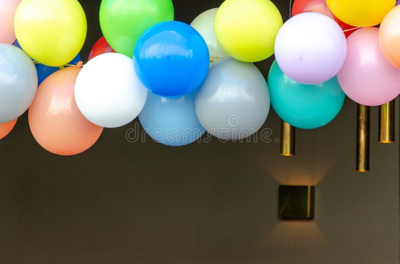 Colorful balloons decoration for party royalty free stock photography