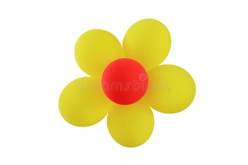 Colorful Balloons Flower isolated over white background stock photos