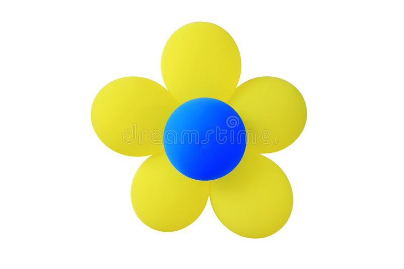 Colorful Balloons Flower isolated over white background stock images