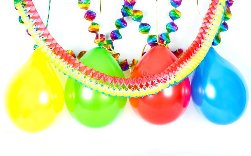 Download Colorful Balloons And Garlands. Party Decoration Stock Photo - Image: 18354862