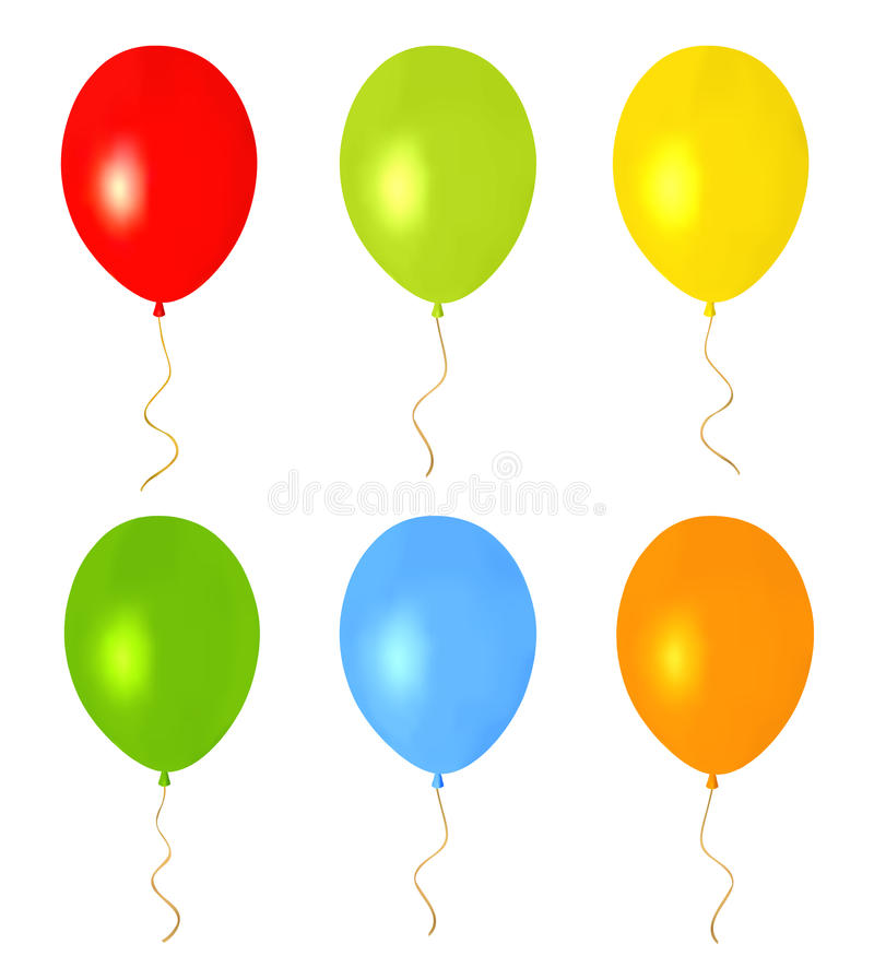 Colorful Balloons for holidays. Isolated vector stock photos