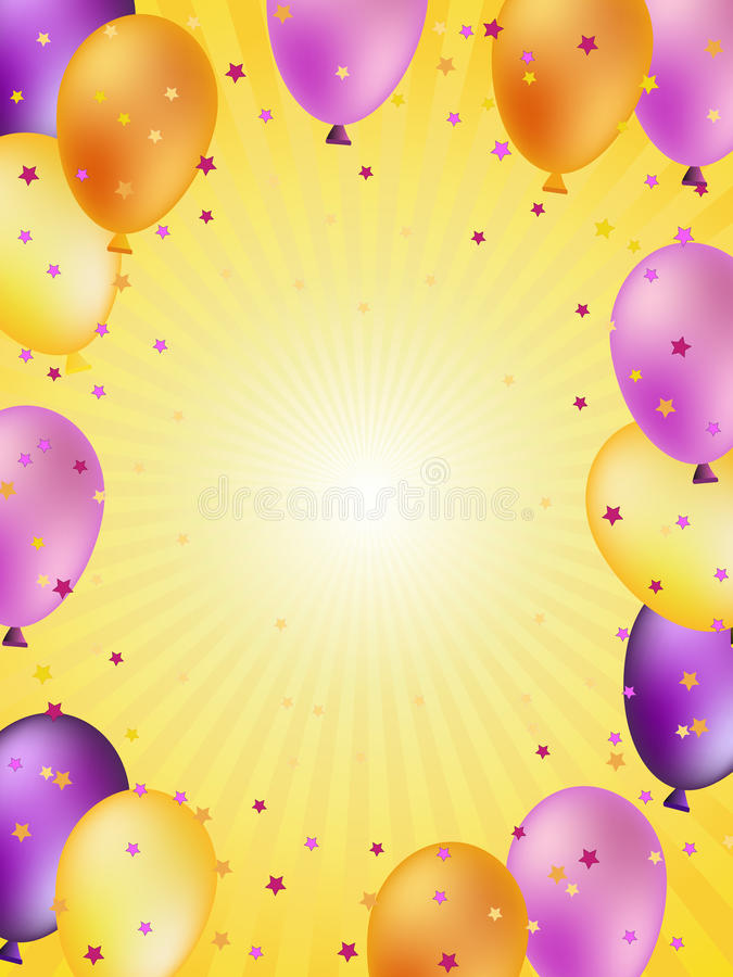 Colorful balloons illustration stock images