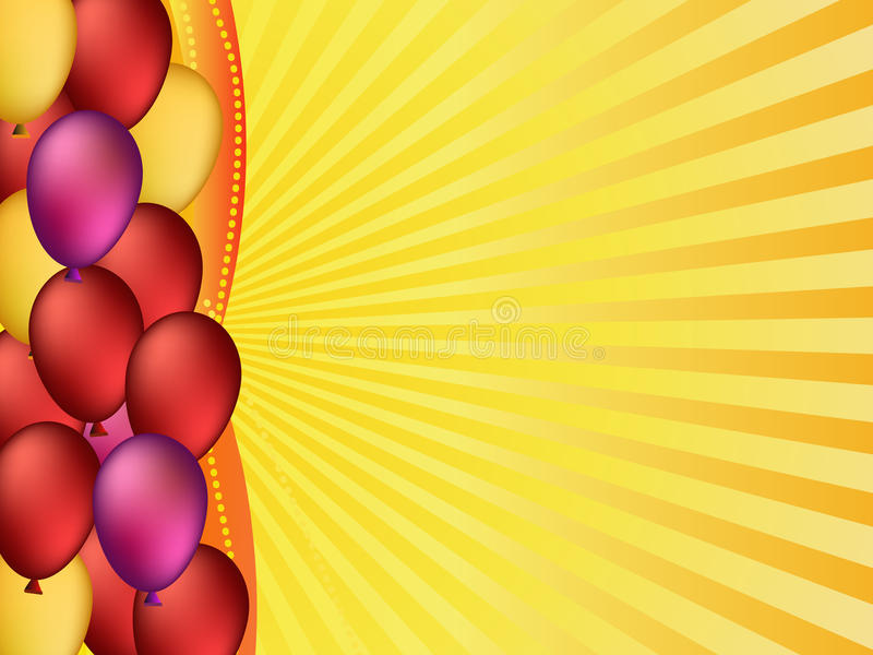 Colorful balloons illustration stock photo