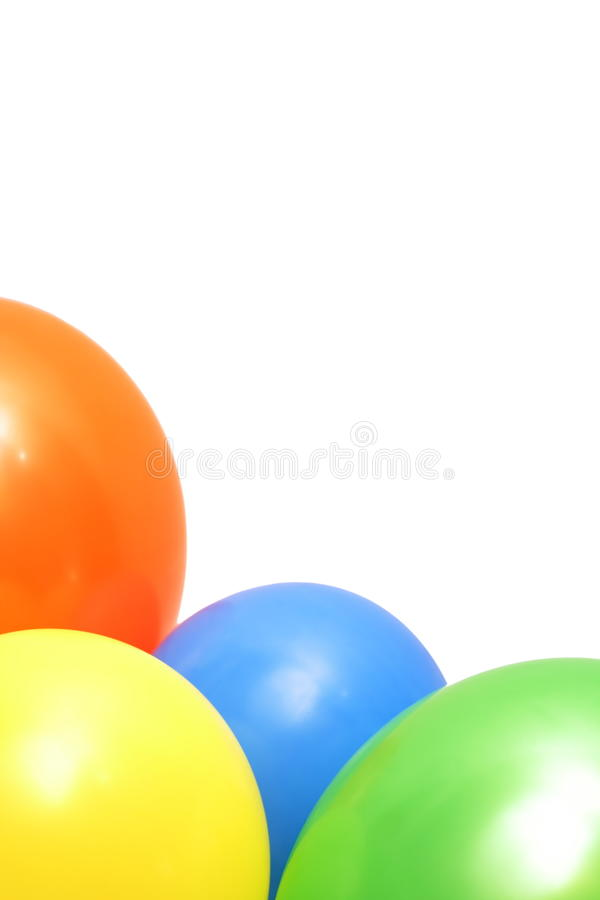 Download Colorful balloons isolated stock image. Image of balloon - 12945559