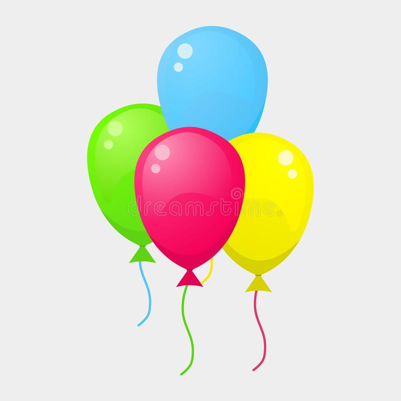 Colorful balloons isolated on white background vector illustration vector illustration