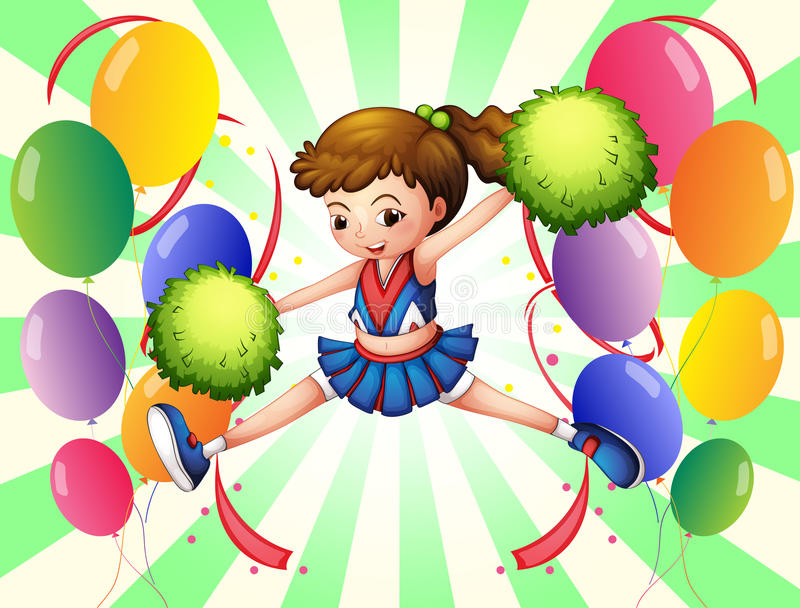 Download Colorful Balloons With A Young Cheerer Stock Vector - Image: 33098740