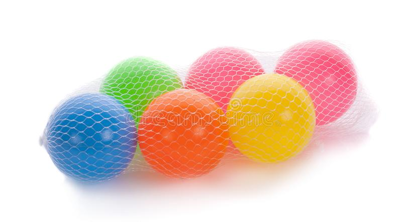 Colorful balls for children to play. Toys for improving children. `s skill stock photo
