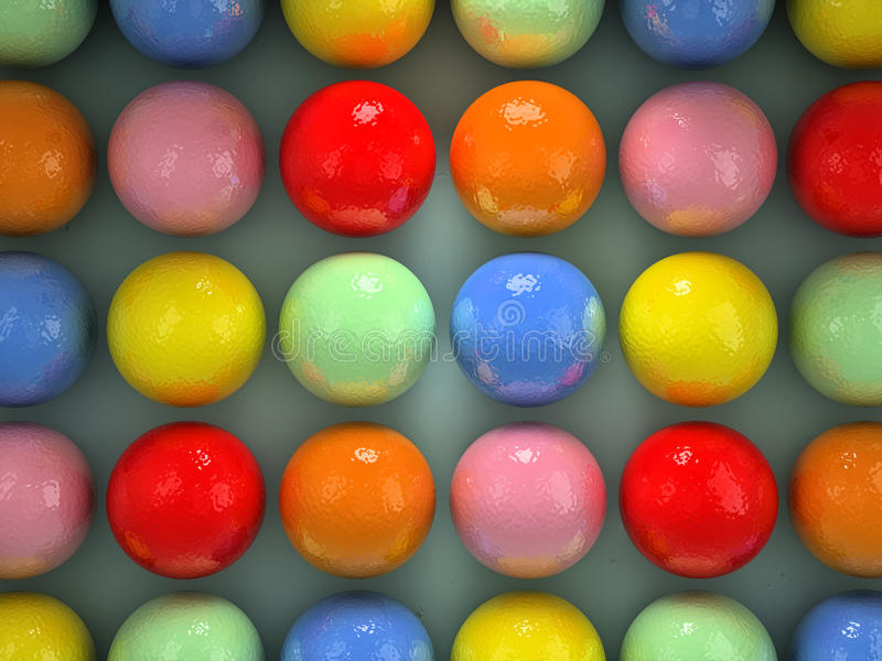 Colorful balls. Set of balls of different colors stock illustration